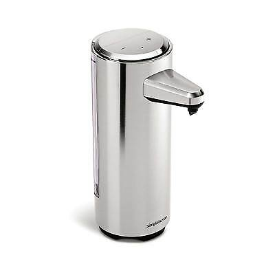 simplehuman 237ml rechargeable touch-free sensor soap pump, brushed nickel