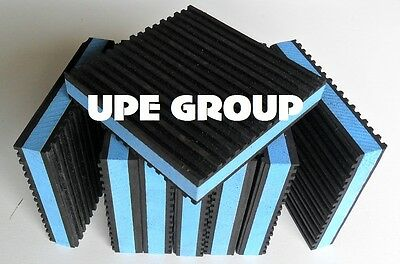 8 PACK ANTI VIBRATION PADS ISOLATION DAMPENER SUPER HEAVY DUTY BLUE 4x4x7/8
