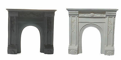 White or Black Resin Fire Surround. Dolls House Miniature,  1.12 Scale Fireplace