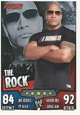 WWE Topps Slam Attax Rumble Trading Card The Rock