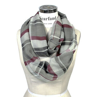 Scarfand's Plaid Infinity Circle Scarf