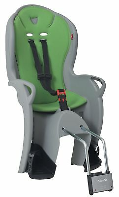 Hamax Kiss Rear Child Bike / Bicycle Seat Carrier For Up To 22kg - Grey & Green