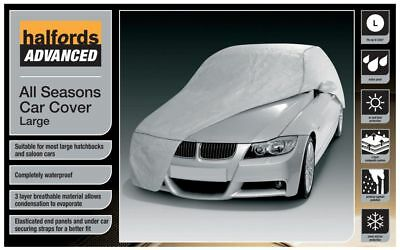 Halfords Advanced All Seasons Car Cover Large Waterproof UV Heath Protection