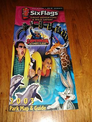 Six Flags Great Adventure park map & guides multiple years 2001 to 2009 Pick one