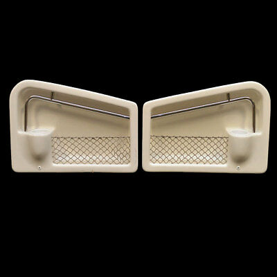 Custom Off White 27 1/4 X 18 X 6 1/2 Inch Plastic Boat Side Storage  Panel