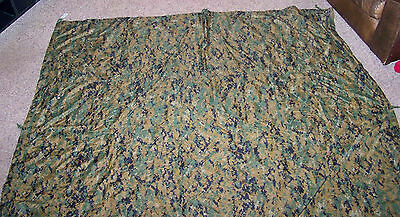 USED USMC Field Tarp MARPAT / TAN Reversible 90x80 Plus Repair Material