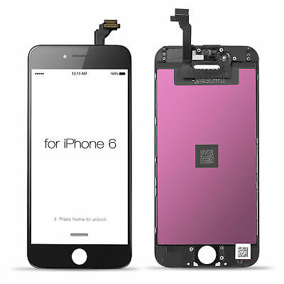 """LCD Touch Screen Digitizer Assembly For iPhone 6 4.7"""" Black Replacement"""