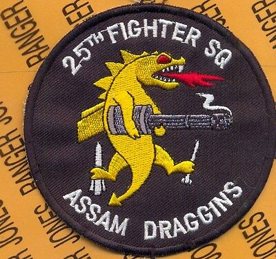 Air Force 25th FIGHTER SQUADRON ASSAM DRAGGINS pocket patch