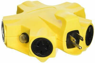 Coleman Cable 997362 Yellow Jackel Powerlink 5-outlet Adapter
