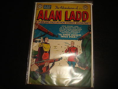 ADVENTURES OF ALAN  LADD #8  Golden Age DC Comics 1950 FN-