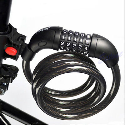 5 Digit Bicycle Combination Cable Bike Cycling Security Password Lock 1200x12mm