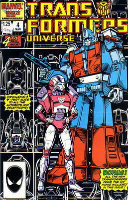 TRANSFORMERS UNIVERSE (1986) #4 - Marvel Comics - Back Issue