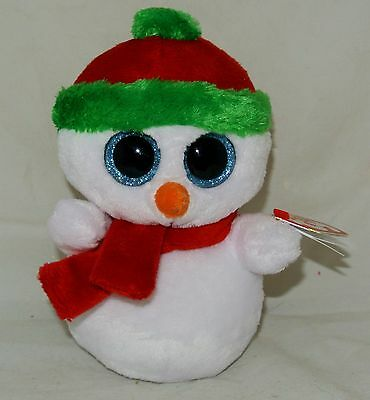 """~2013  TY Beanie BOOS """"SCOOPS"""" the Snowman~ 6"""" size Retired Rare & hard to find"""
