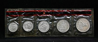 Albania 1969 (5) Coins (MINT SET)