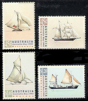 Australia Day 1992 -  Sailing Ships; Fresh set of 4, MNH        • FREE POSTAGE •