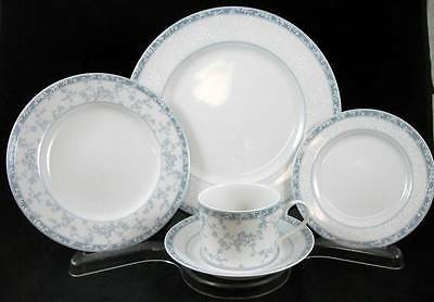 Noritake LACE SHADOW 5 Piece Place Setting 3988 SHOWROOM INVENTORY MINT
