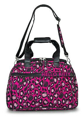 NWT Loungefly Hello Kitty Pink Leopard Duffle/Weekender Bag