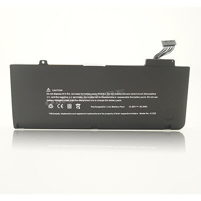 """63.5Wh Battery For Apple MacBook Pro 13"""" A1322 A1278 Mid 2009/2010/2011/2012 NEW"""