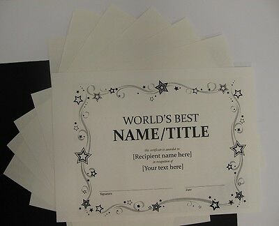 Cotton Parchment Paper Milk White A4 160gsm x 15 Cardmaking Certificates AM352