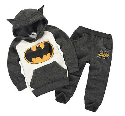 Baby Boys Batman Autumn Winter Fleece Lined Tracksuit Sets (6 Months -5Years)