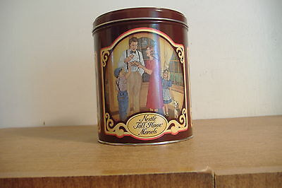 ~NESTLE' TOLL HOUSE MORSELS~50TH ANNIVERSARY TIN~50 YEARS OF MEMORIES~1939-1989~