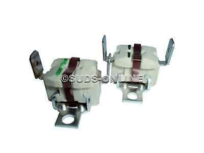 2 x WHIRLPOOL AWZ110 AWZ121 AWZ122/3GD AWZ129 Tumble Dryer Heater Thermostats