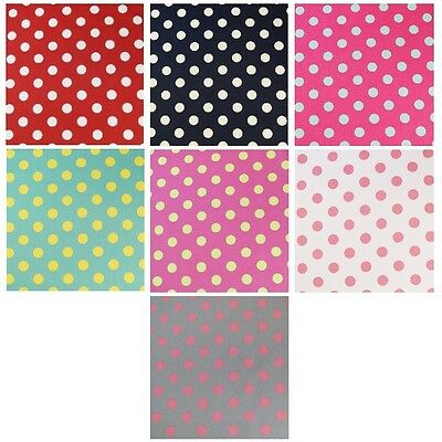 100% Cotton Poplin Fabric John Louden 17mm Polka Dots Spots Spotty