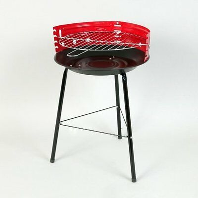 Scribble Portable 14 Inch BBQ with Stand, Red Portable Outdoor Camping Barbecue