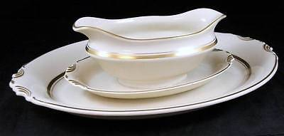 Syracuse KENT (Gold Trim) Platter + Gravy w/Attached Underplate GREAT CONDITION