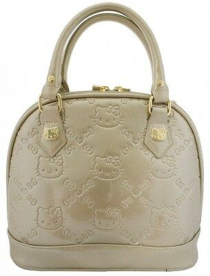 NWT Loungefly Hello Kitty Gold Gliiter Patent Embossed Mini Dome Bag