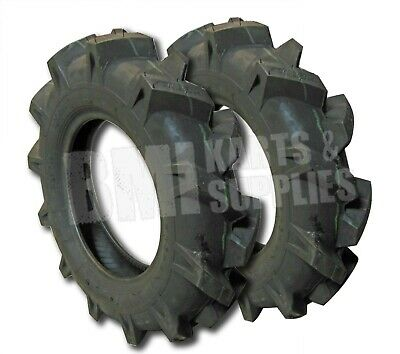 Set of 2, 4.00-10 Tube Type Tire for Muck Truck Concrete Wheelbarrow 400-10