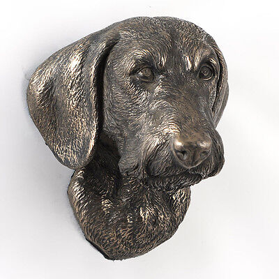 Tackel, Dachshund (wirehaired), statuette pour attacher, bronze, chien, Dog
