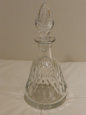 BACCARAT RARE ANTIQUE CUT GLASS PERFUME COLOGNE BOTTLE MARKED AND NUMBERED