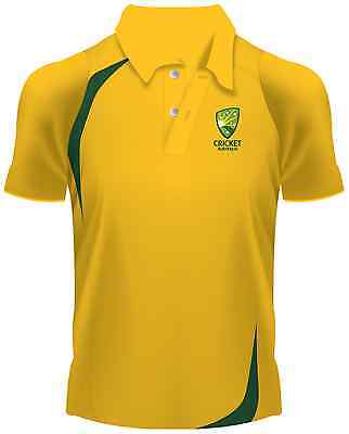 Cricket Australia Gold Supporters Polo Shirt Sizes S-3XL! Made by ISC!