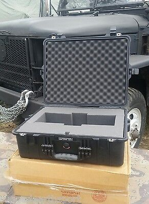 PELICAN 1450 Medium USA Military WATERTIGHT CRUSHPROOF Camera Hard Case w/ Foam