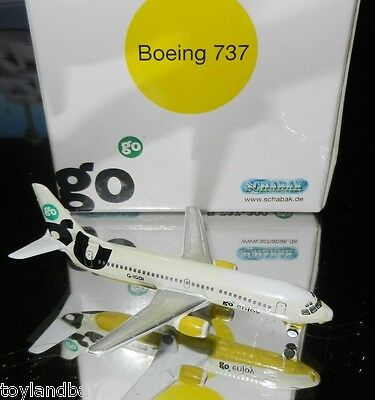 Schabak 1:600 Scale Diecast 925-211 go Airlines Boeing 737 Yellow Livery New