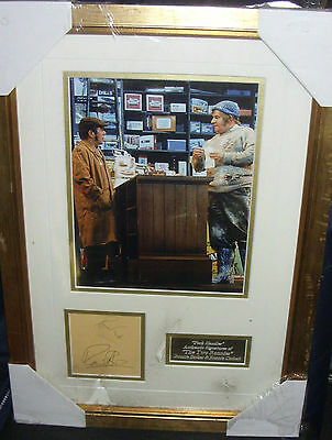 RONNIE BARKER  RONNIE CORBETT FORK HANDLES Signed Montage  AFTAL