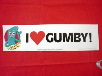 "36 Piece Wholesale LOT ""I Love Gumby"" Bumper Stickers 1985 Old NEW Stock"