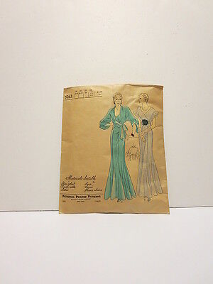 Vintage 1930's jacket dress pattern 6263 Pictorial Review size 18 complete
