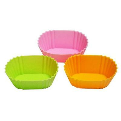 Oval Shape Silicon Food Cup for Bento Box 3pc #2678