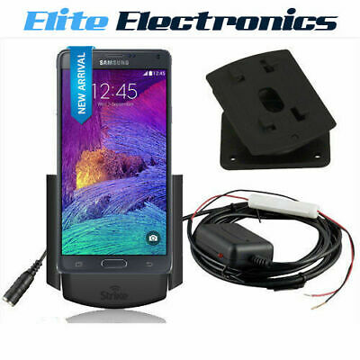 Strike Alpha Samsung Galaxy Note 4 Cradle Car Kit Swivel Mount Dock Antenna Fme