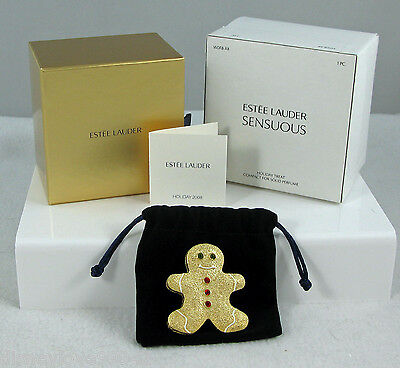Estee Lauder Perfume Solid Compact HOLIDAY TREAT Gingerbread Christmas Sensuous