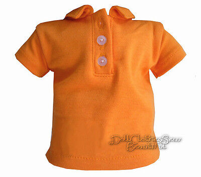 Polo T-Shirt Orange made for BITTY BABY + TWINS Doll Clothes BOY TWIN!