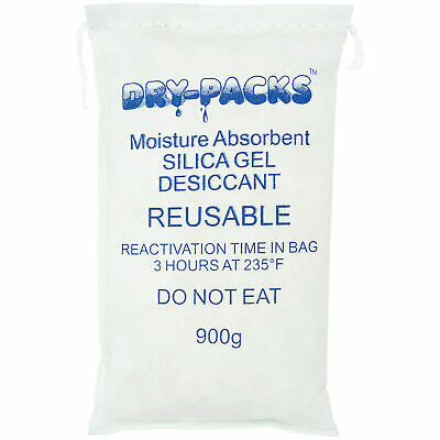 Silica Gel 900g, Bag Lockdown Moisture With Dry-Packs 900 Gram Dehumidifying Bag