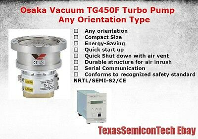 Osaka Vacuum TG450F Any Orientation Type Turbomolecular Turbo Pump Complete Set