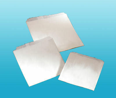 """500 x 5"""" x 5"""" White Sulphite Paper Sweet Party Bags"""