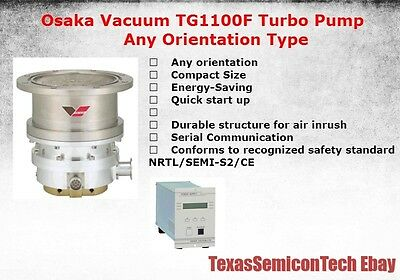 Osaka Vacuum TG1100F Any Orientation Type Turbomolecular Turbo Pump Complete Set