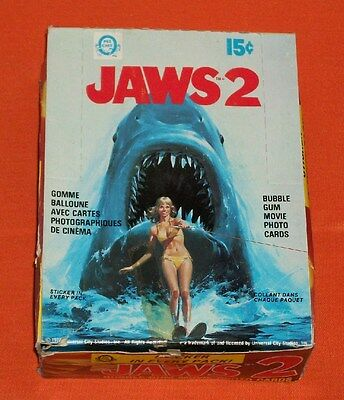 vintage Canadian O-Pee-Chee JAWS 2 TRADING CARDS full display box (36 packs)