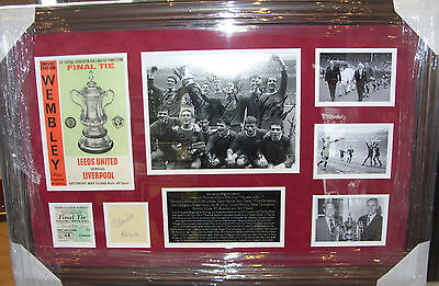 Liverpool 1965 FA Cup Winners Signed Montage  AFTAL