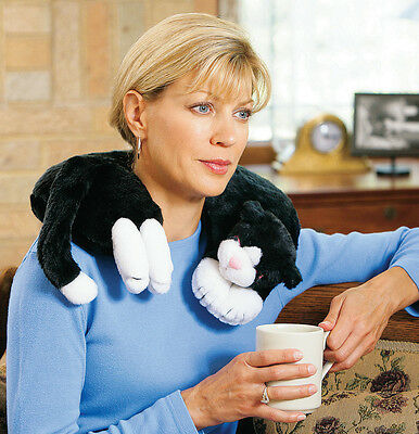 Collections Etc Microwave Cat Neck Wrap Warming Pillow